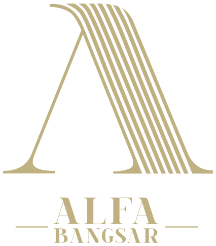 Alfa Bangsar gold logo with name