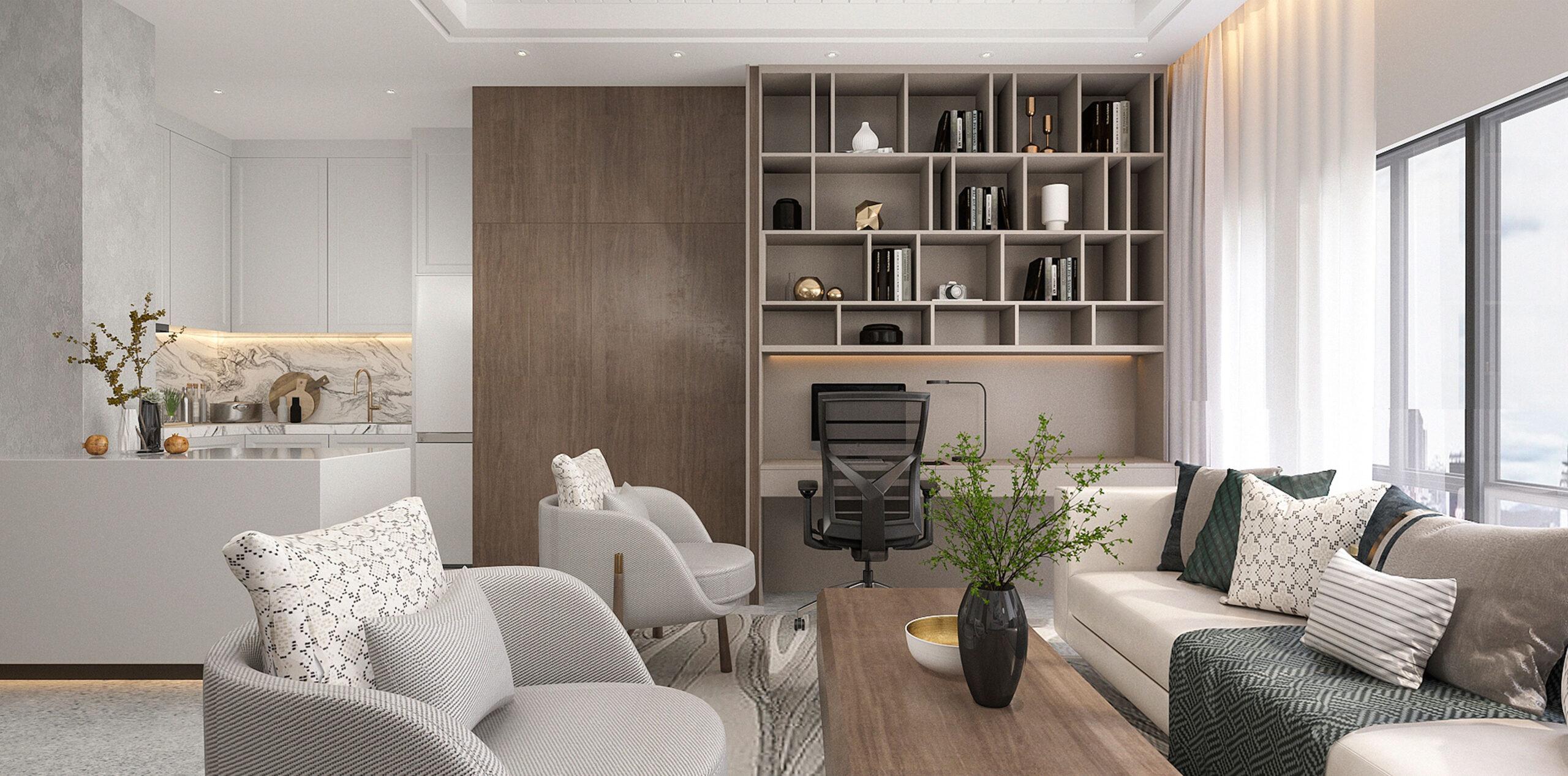 Interior design of a living room at Alfa Bangsar.