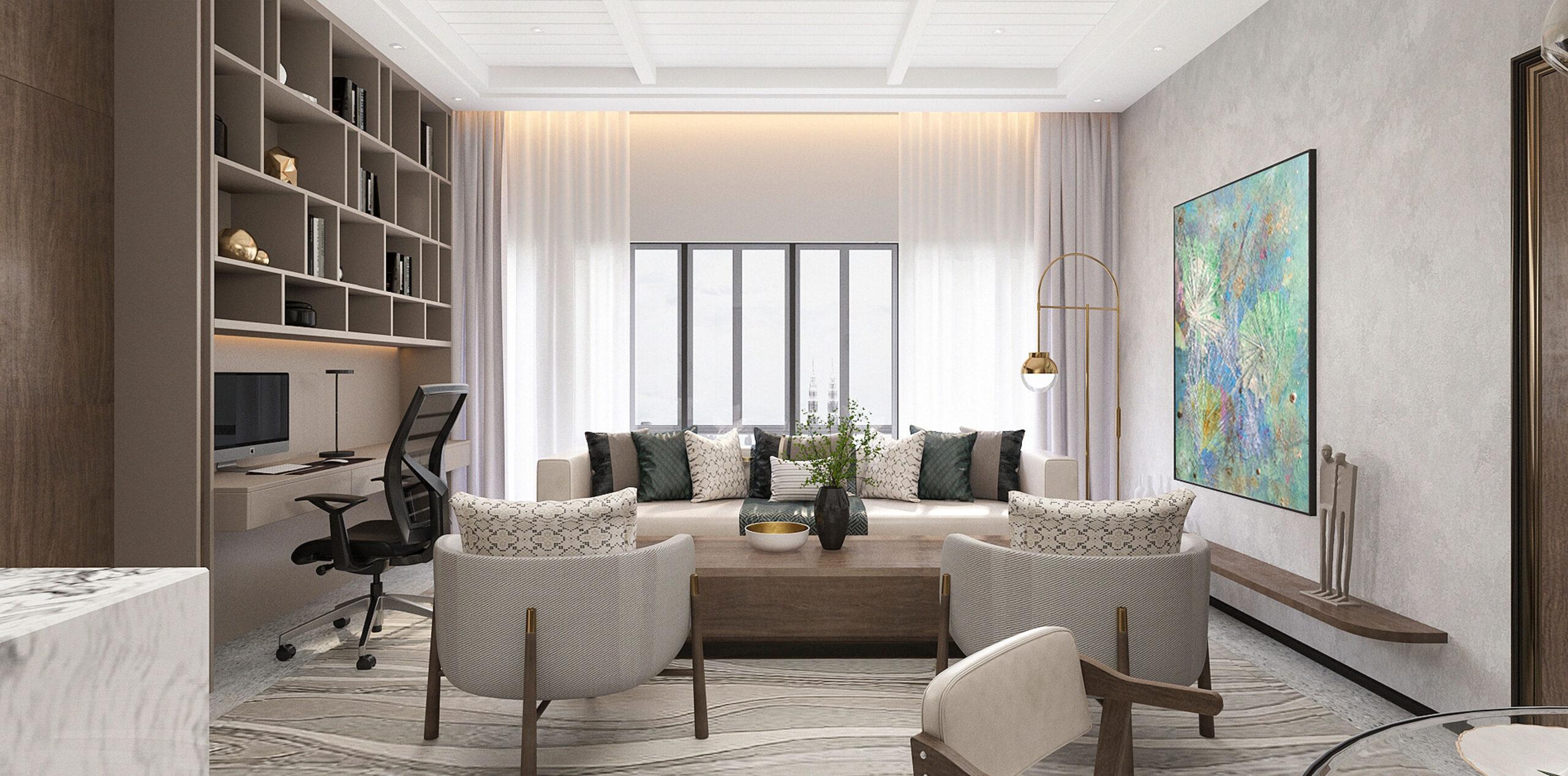 Interior design of a room at Alfa Bangsar.