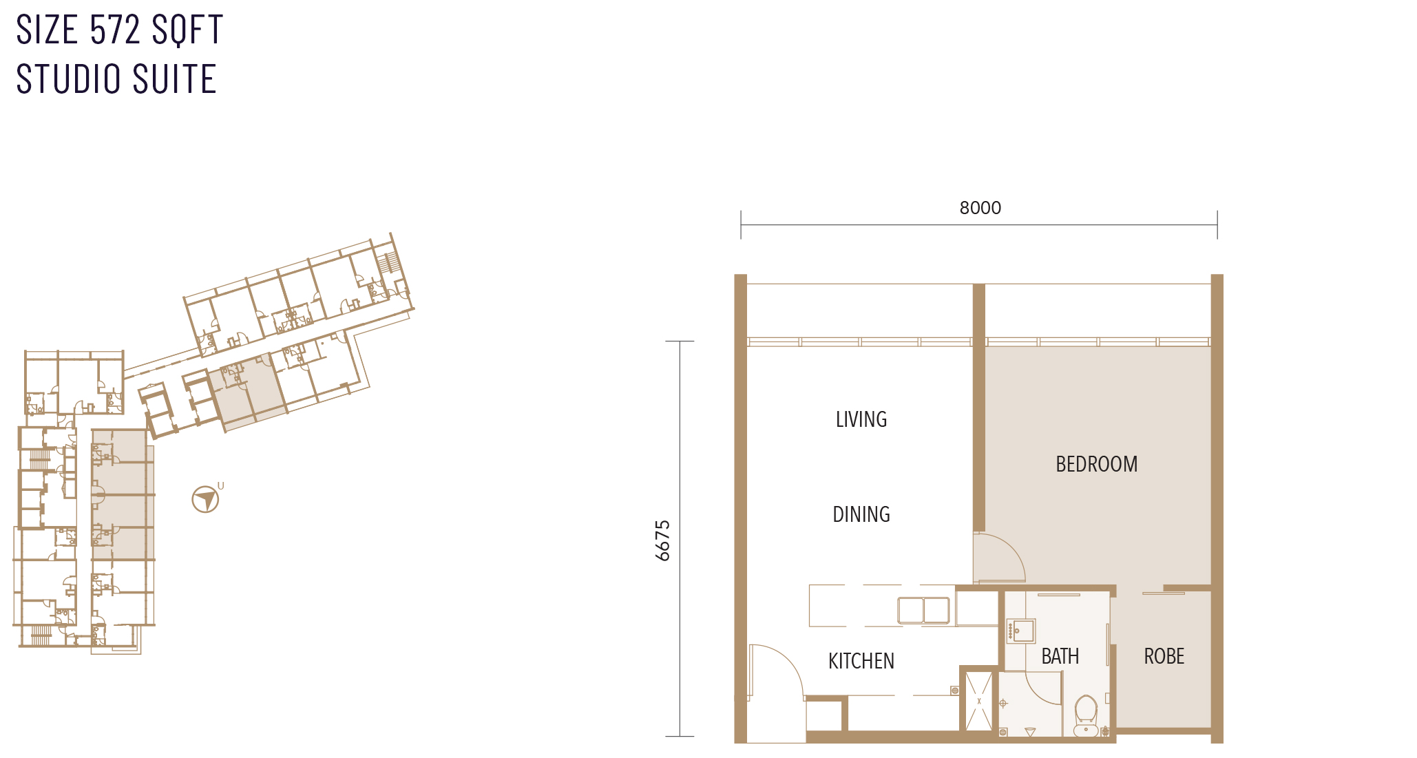 Type A floor plan at Alfa Bangsar