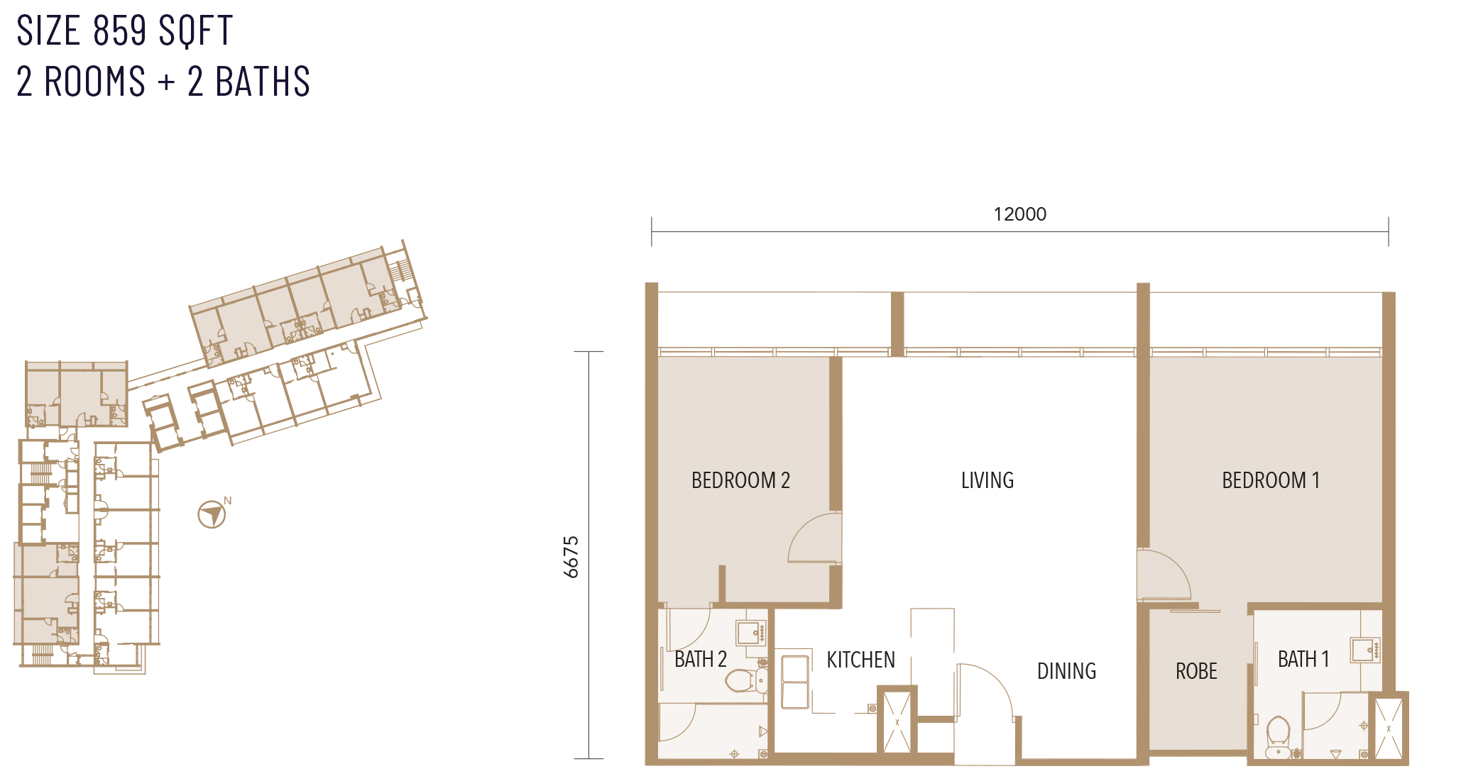 Type B floor plan at Alfa Bangsar