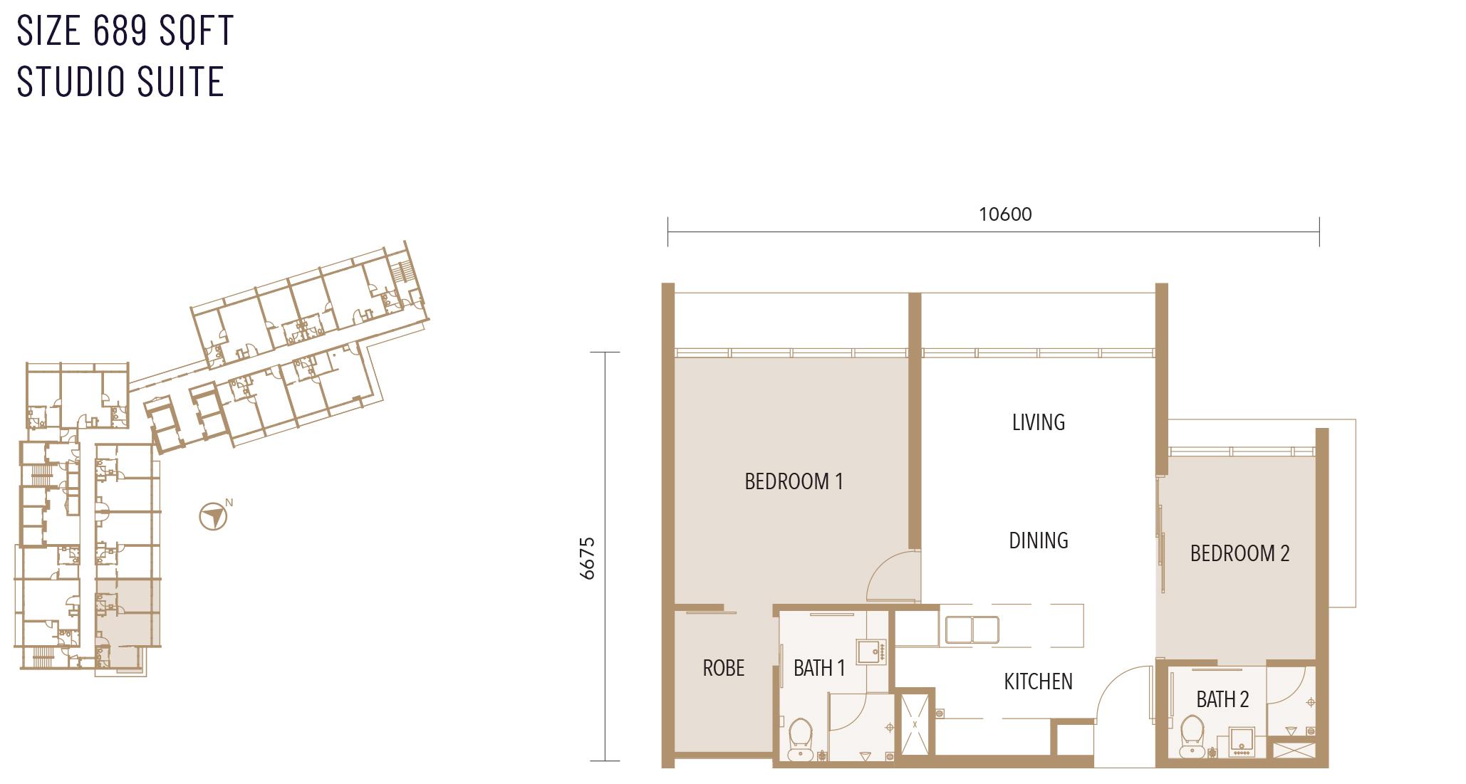 Type D floor plan at Alfa Bangsar