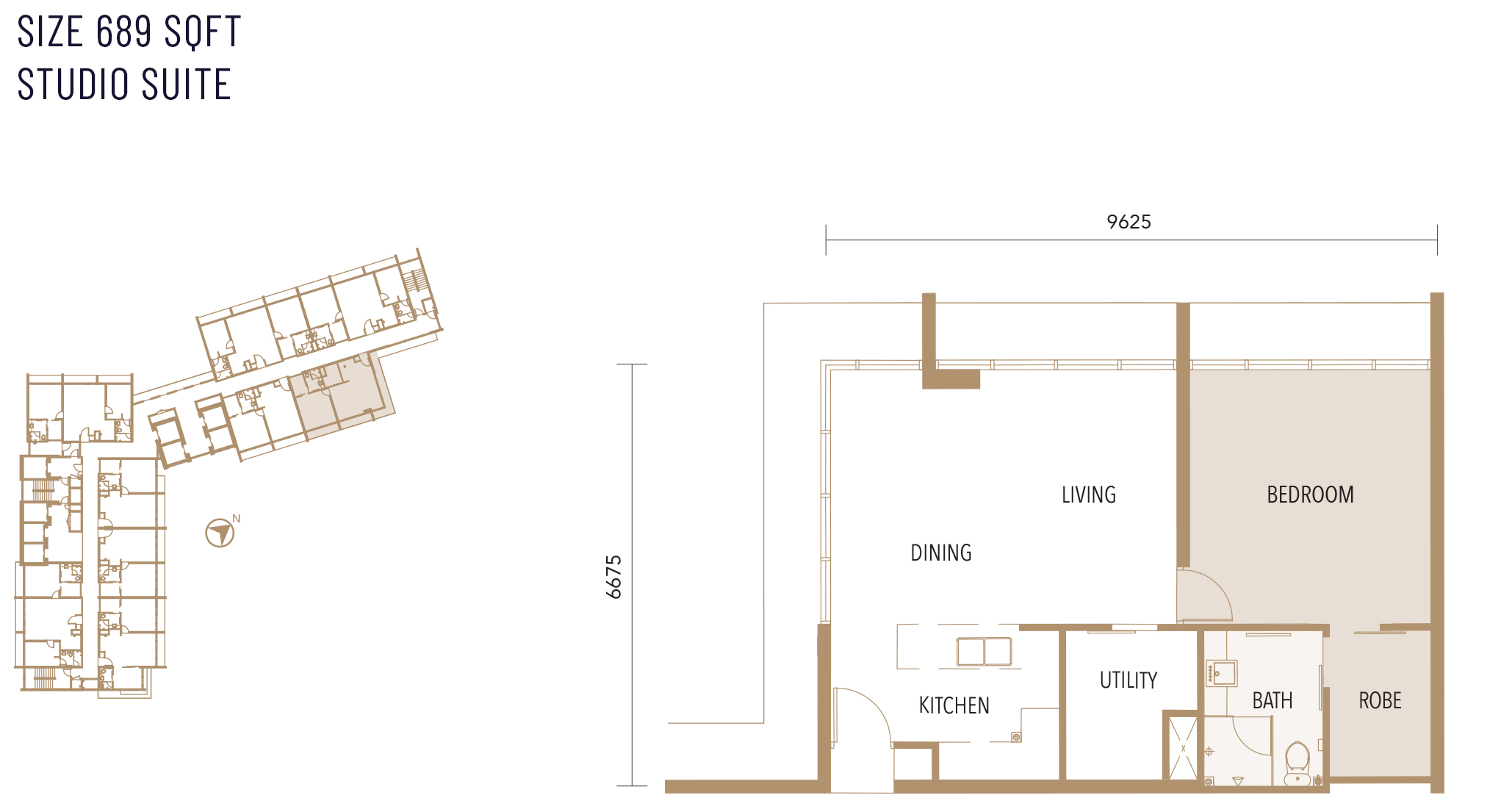 Type C floor plan at Alfa Bangsar service apartment